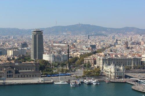 ciudad de Barcelona desde el mar